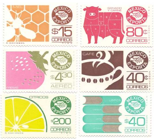 Mexico Exporta Definitives Stamps on Some Stamps