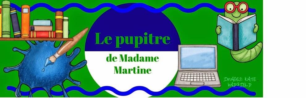 Le pupitre de Madame Martine