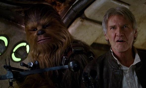 Han Solo y chewaca aparecen en el Despertar de la fuerza