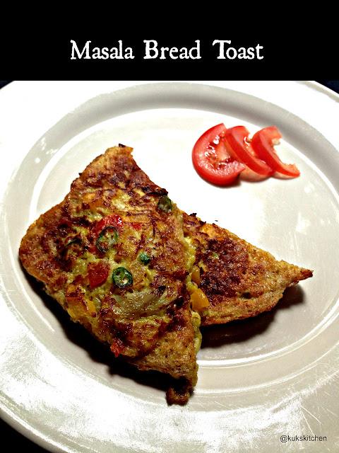 Masala Bread Toast | Kukskitchen