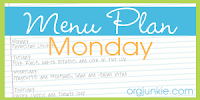 Menu Planning on Monday.  Save time and money.