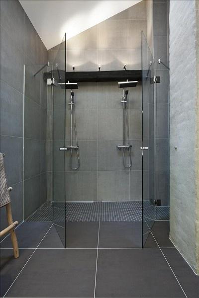 Vintage chic inspirasjon bad inspiration bathroom - Double bad design ...
