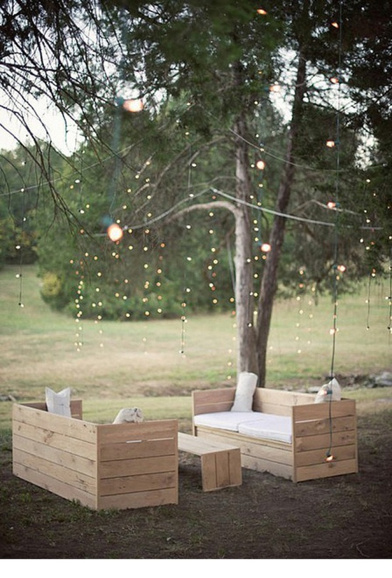 Pallet Outdoor Furniture with Lights