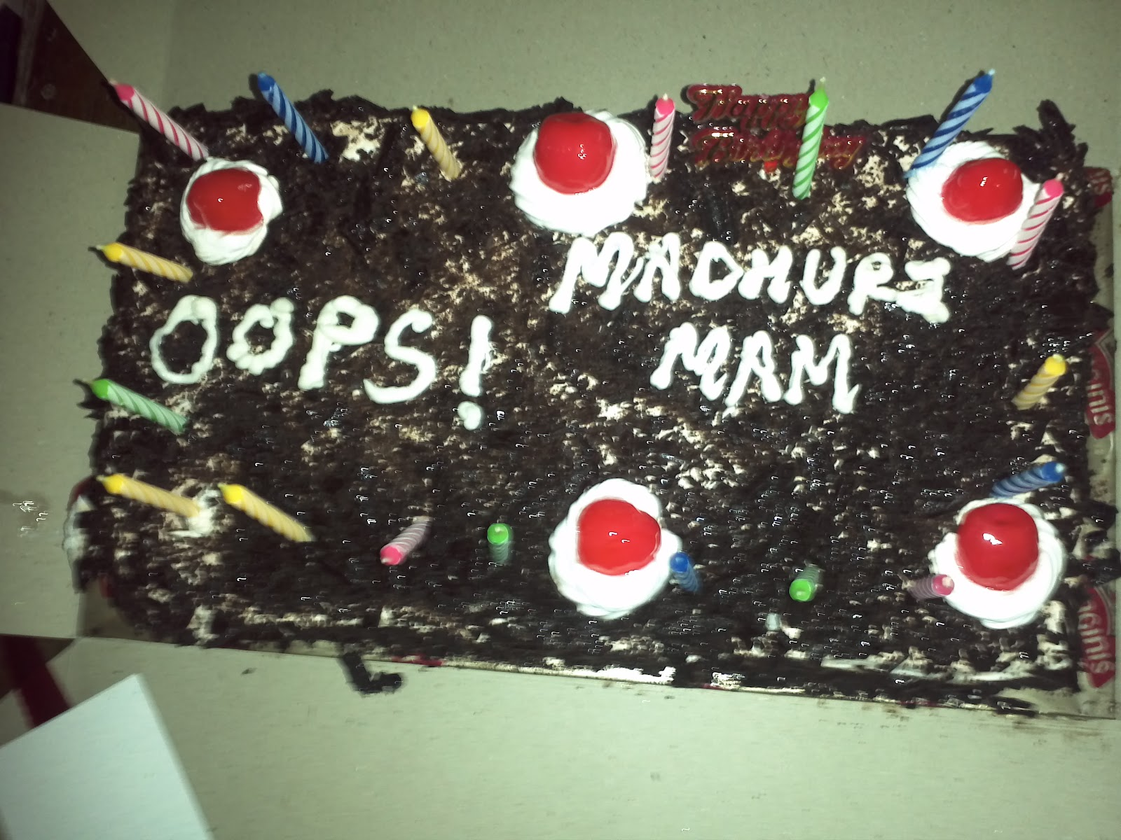 Birthday Cake With Name Madhuri