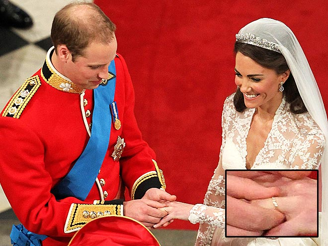 Gisys blog William slips a gold wedding band made from the royal
