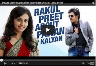 Power Star Pawan Kalyan is my First Choice | Rakul Preet | Latest Pawan Kalyan News | HD Videos