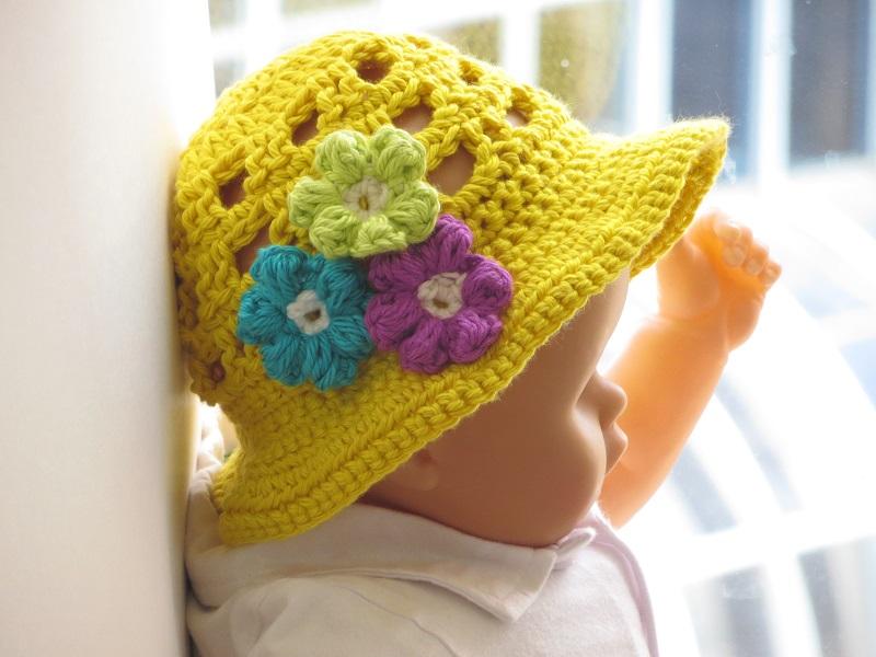 Crochet Baby Girl Sun Hat Pattern : Crochet Dreamz: Crochet Sun Hat Pattern for Girls, Newborn ...