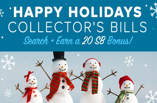 Swagbucks Holiday Collector Bills