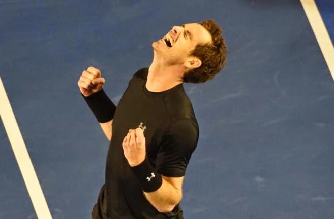 Andy Murray en la Final del Abierto de Australia