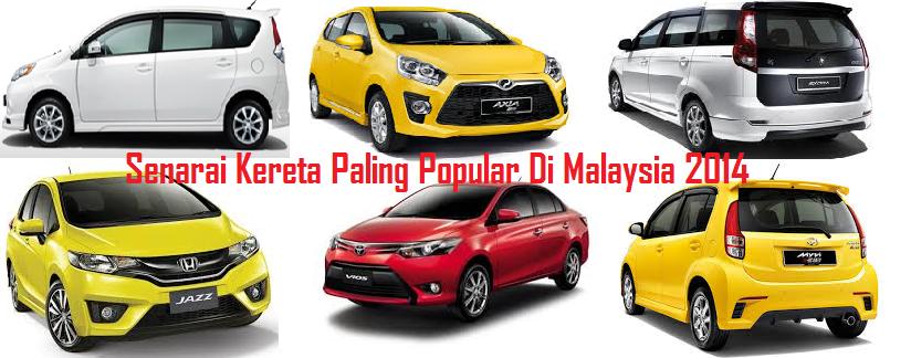 Kereta Paling Popular Di Malaysia 2014