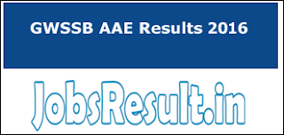 GWSSB AAE Results 2016