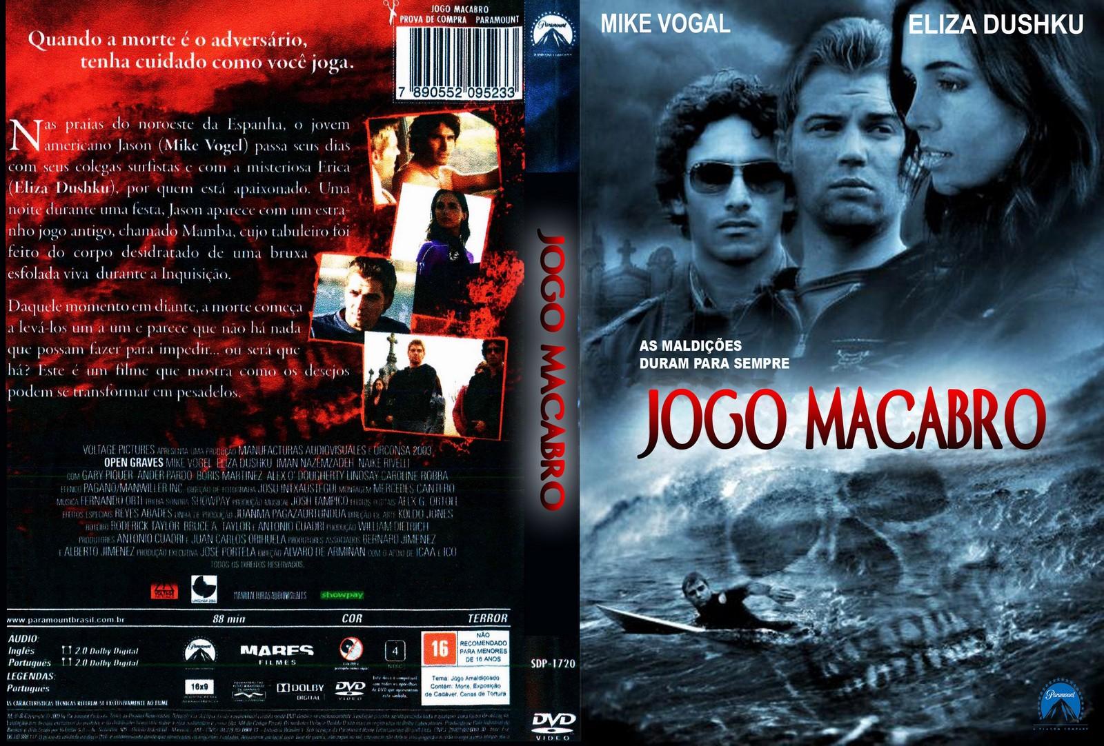 Filme Jogo Macabro DVD Capa