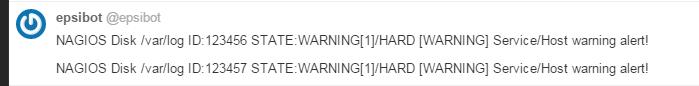 bot reports Nagios alerts