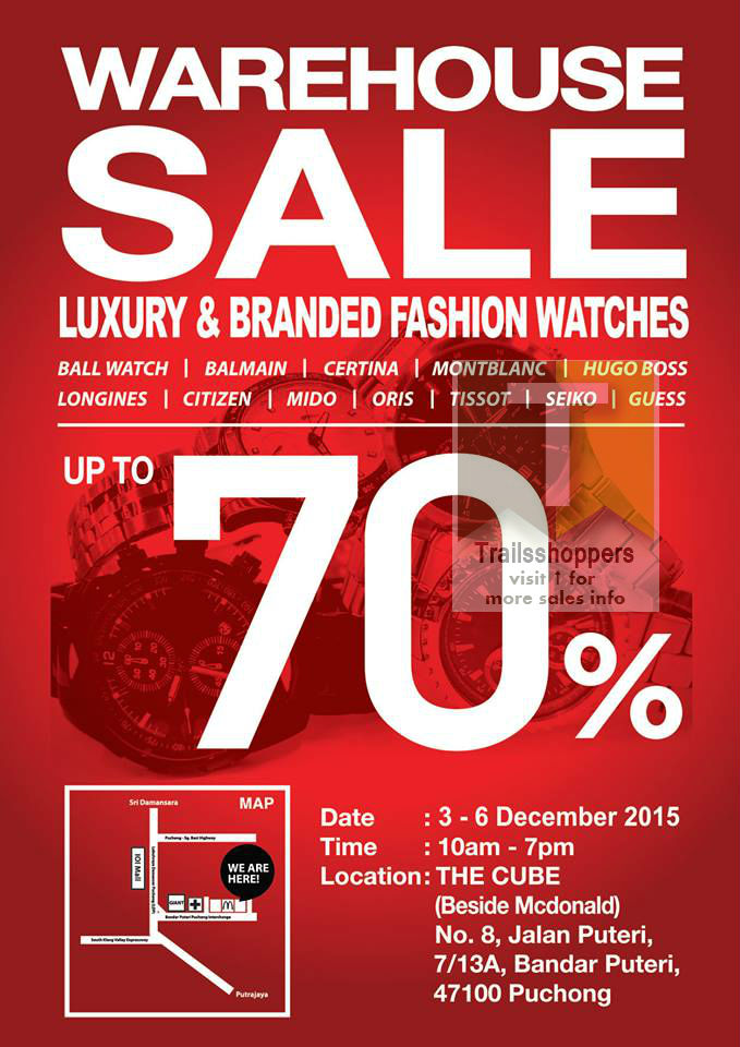 Luxury Branded Fashion Watches Warehouse Sale Puchong