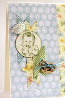 открытка для новорожденного скрапбукинг