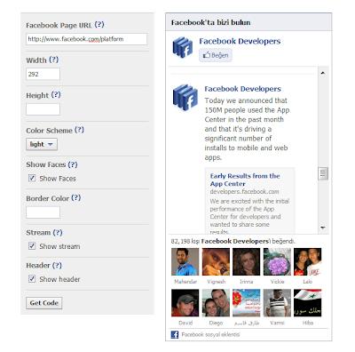 Blogger Eklentileri - Facebook Beğen Kutusu Eklemek