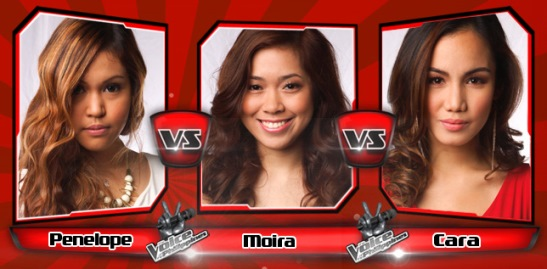 Penelope Matanguihan vs Moira dela Torre vs Cara Manglapus | The Voice of the Philippines Battle Rounds