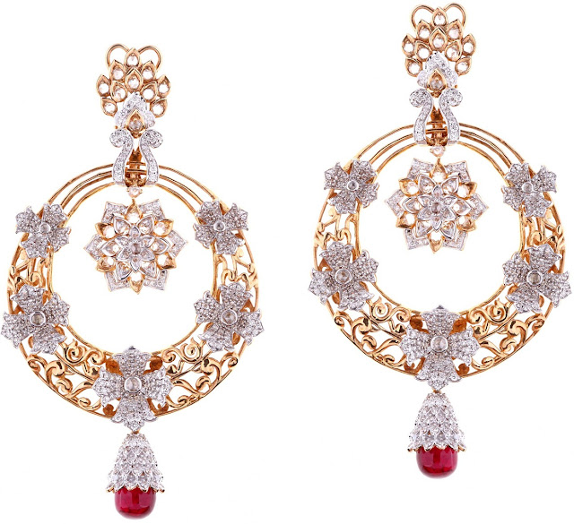 Entice Jewelry Akshaya Tritaya Collection Traditional Floral Earrings
