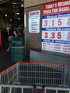 Costco gas for Mar. 7, 2015 at Redwood City, CA