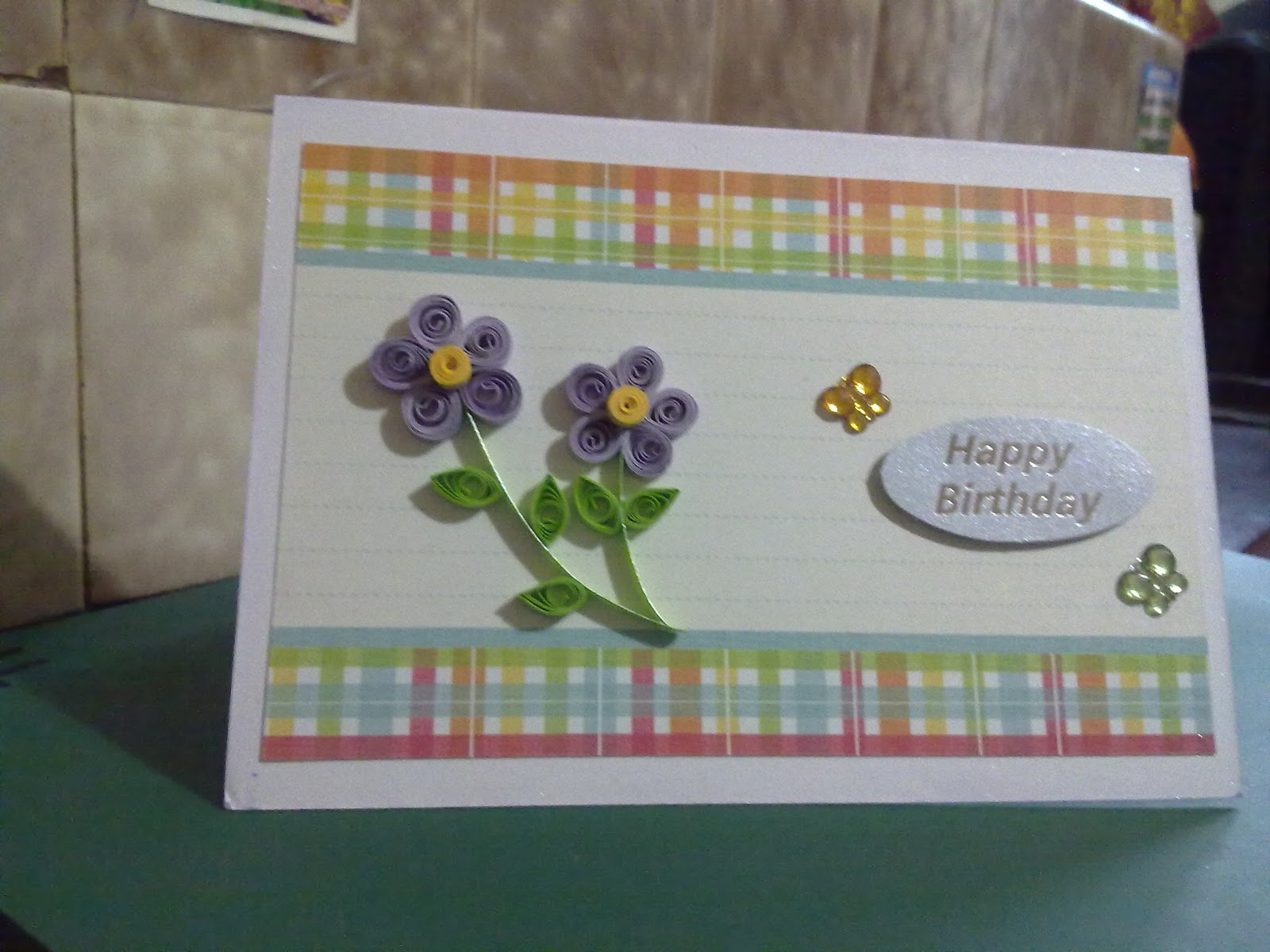 Papercrafts quilled flowers birthday card quilled flowers birthday card kristyandbryce Images