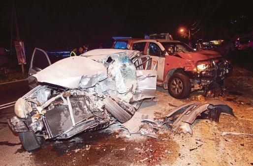 2 Penyamun maut dalam kemalangan selepas menyamun