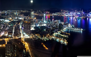 free hd images of hong kong night panorama for laptop