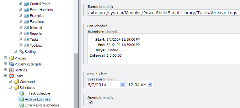 something to know archive log files with sitecore powershell extensions