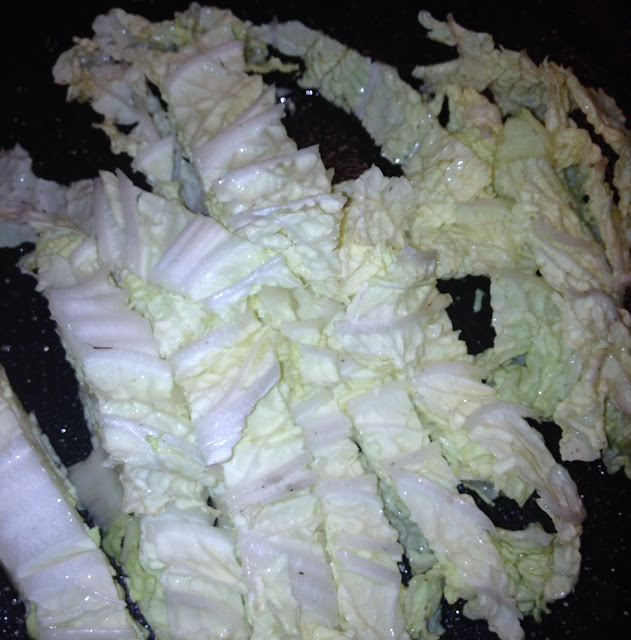 strips of nappa cabbage