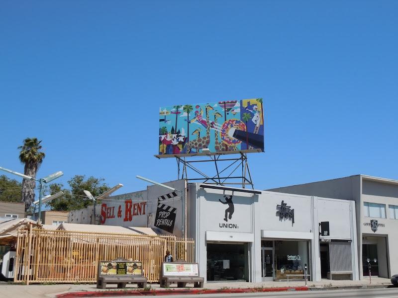 FreeDarko billboard La Brea Avenue