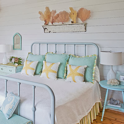Coastal Living nautical guest bedroom