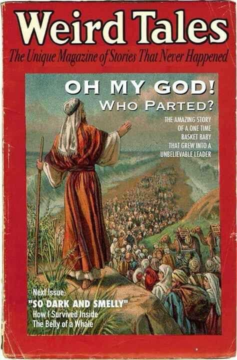 Funny Weird Tales - Oh My God Who Parted? Magazine Picture