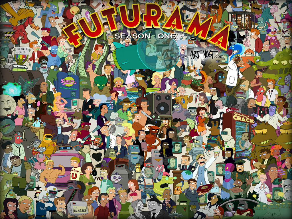 Futurama Colash X on hd backgrounds
