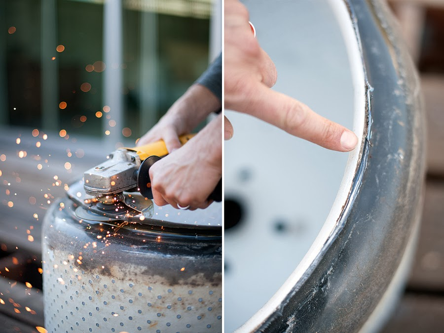 Turn a Washing Machine Drum Into a Backyard Fire Pit