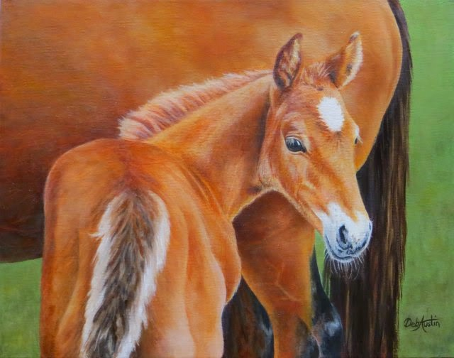 Mare and Foal (Oil) - sold