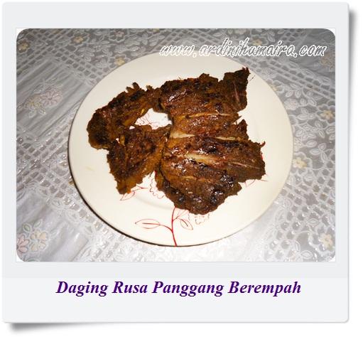 Resipi Daging Rusa Panggang Berempah