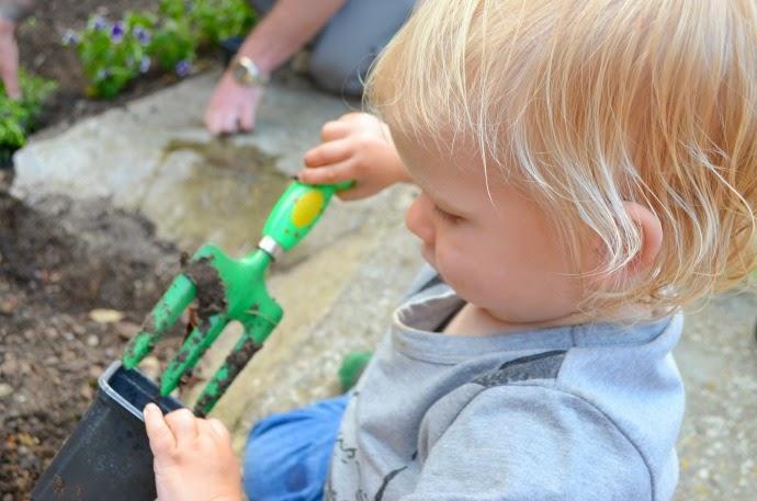 get kids gardening, toddler gardening, baby gardening