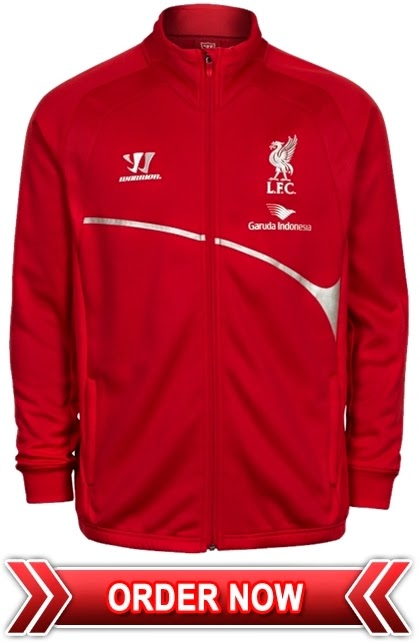Jaket Training Merah Liverpool Garuda Indonesia 2015