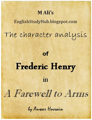 a story of frederick henry a farewell to arms