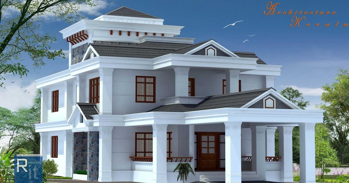 Architecture Kerala: 4 BED ROOM KERALA HOUSE