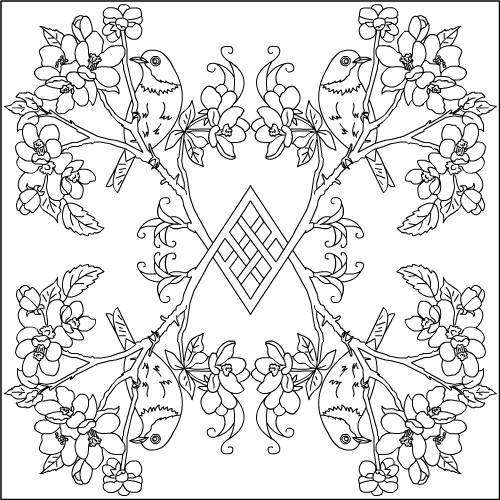 Apple Mandala Coloring Pages
