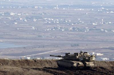 IDF tank near Syrian border.