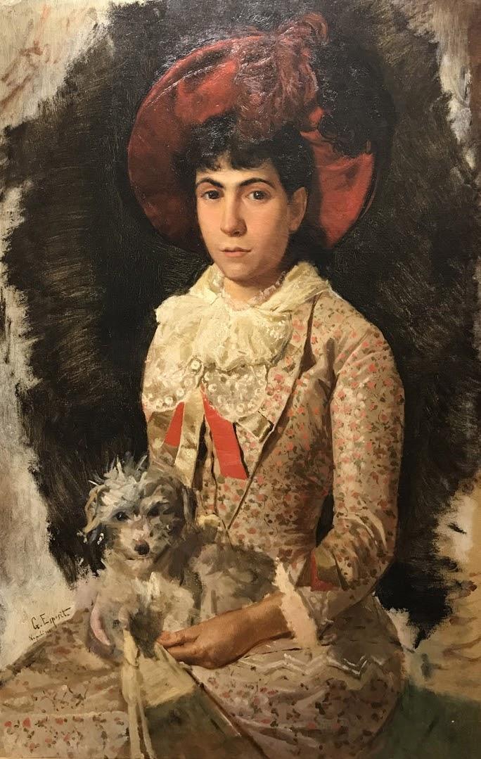 Gaetano Esposito Nobildonna con cane