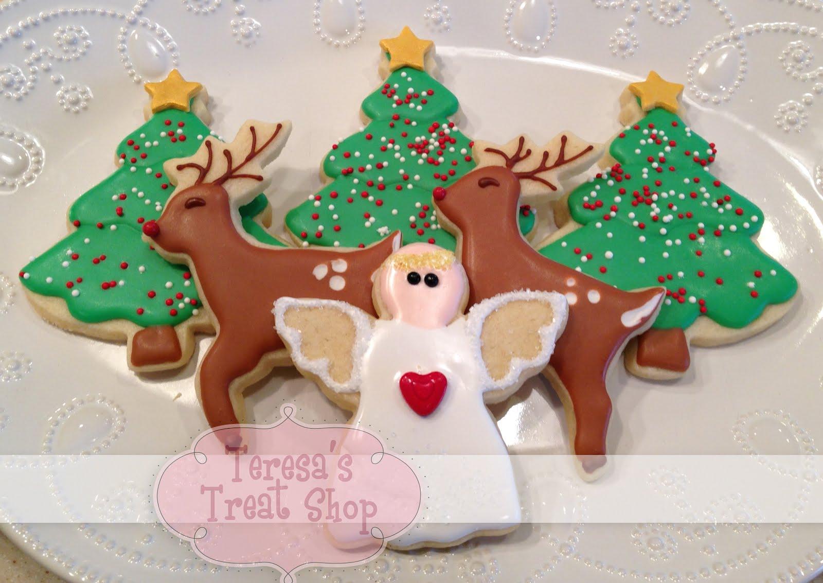 Christmas Angels Reindeer And Trees