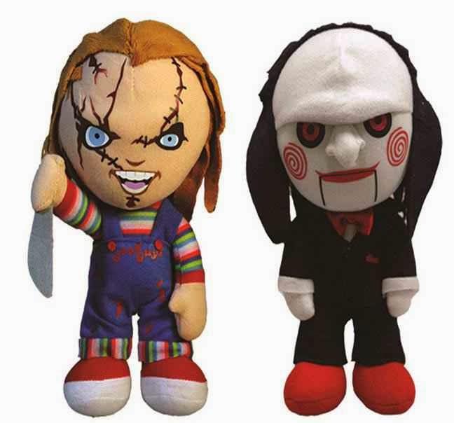 Peluche Chucky y Marioneta Saw