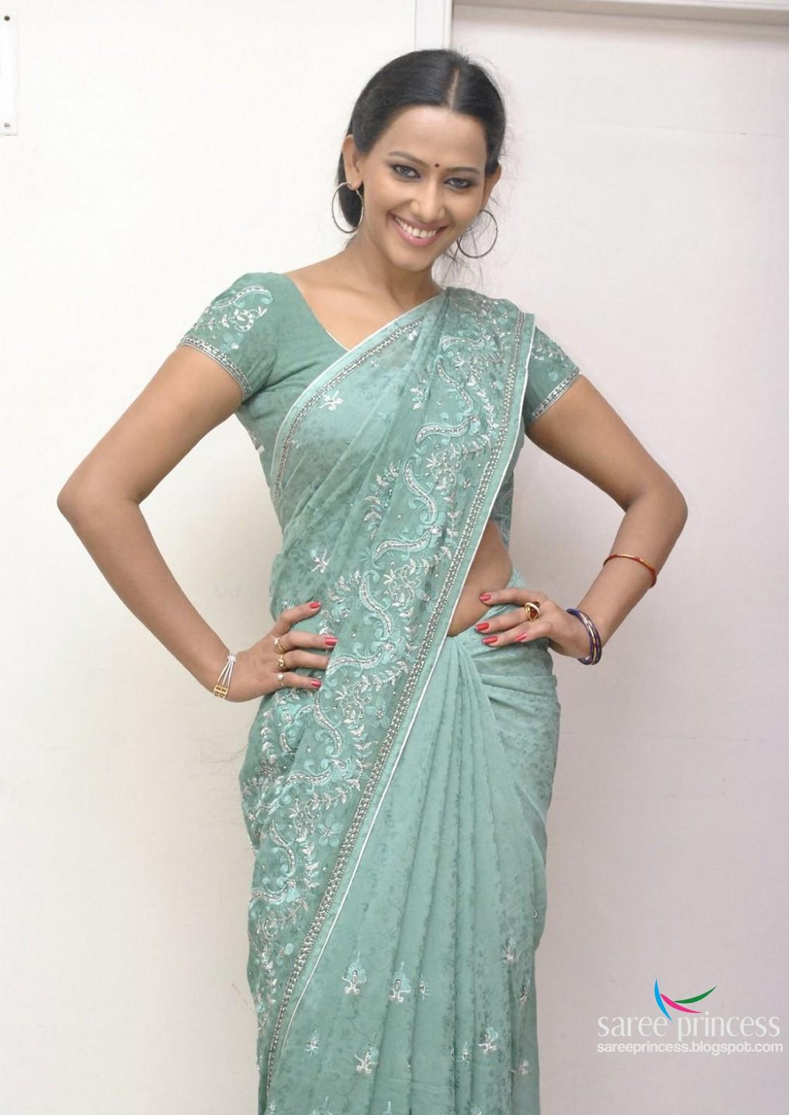INDIAN ACTRESS: Tollywood actress Sanjana Singh saree at latest event ...