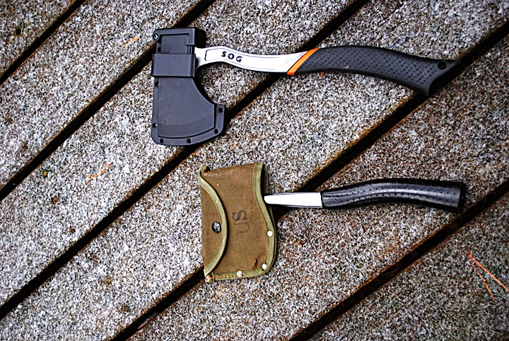 Sog Camp Axe and Jet Rocket hatchet