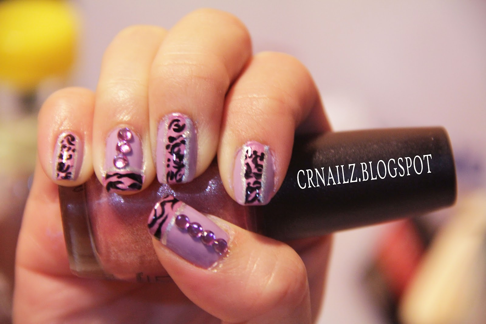 The Exciting Cheetah and zebra print nail designs Image