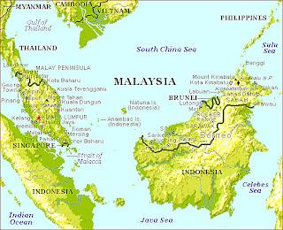 Malaysia Tourism Malaysia Map