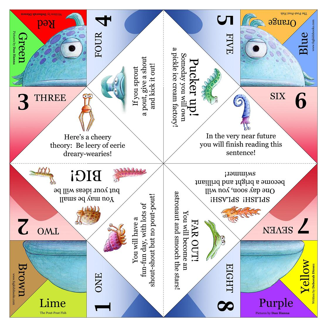 Priceless image in fortune teller printable