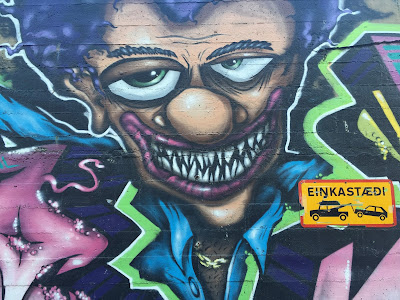 Reykjavik Mural Face